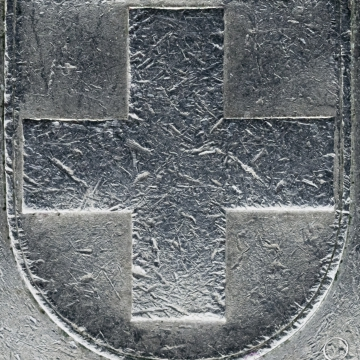 Five Swiss Franc Coin Detail