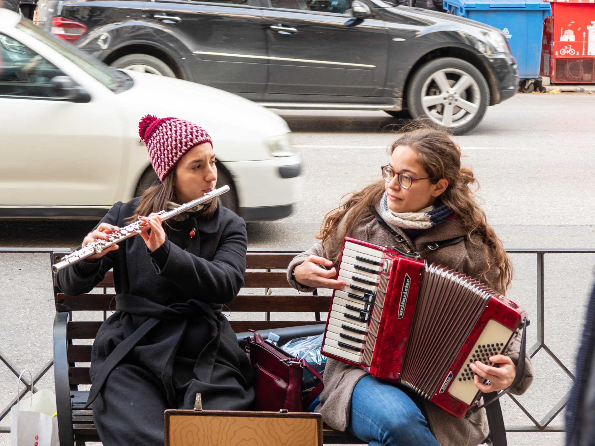You could hear more traditional christmas songs from this duo
