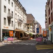 Small walk alley in Basel