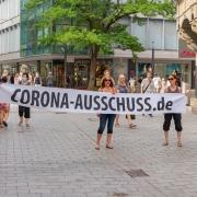 Anti-COVID-measure demonstration