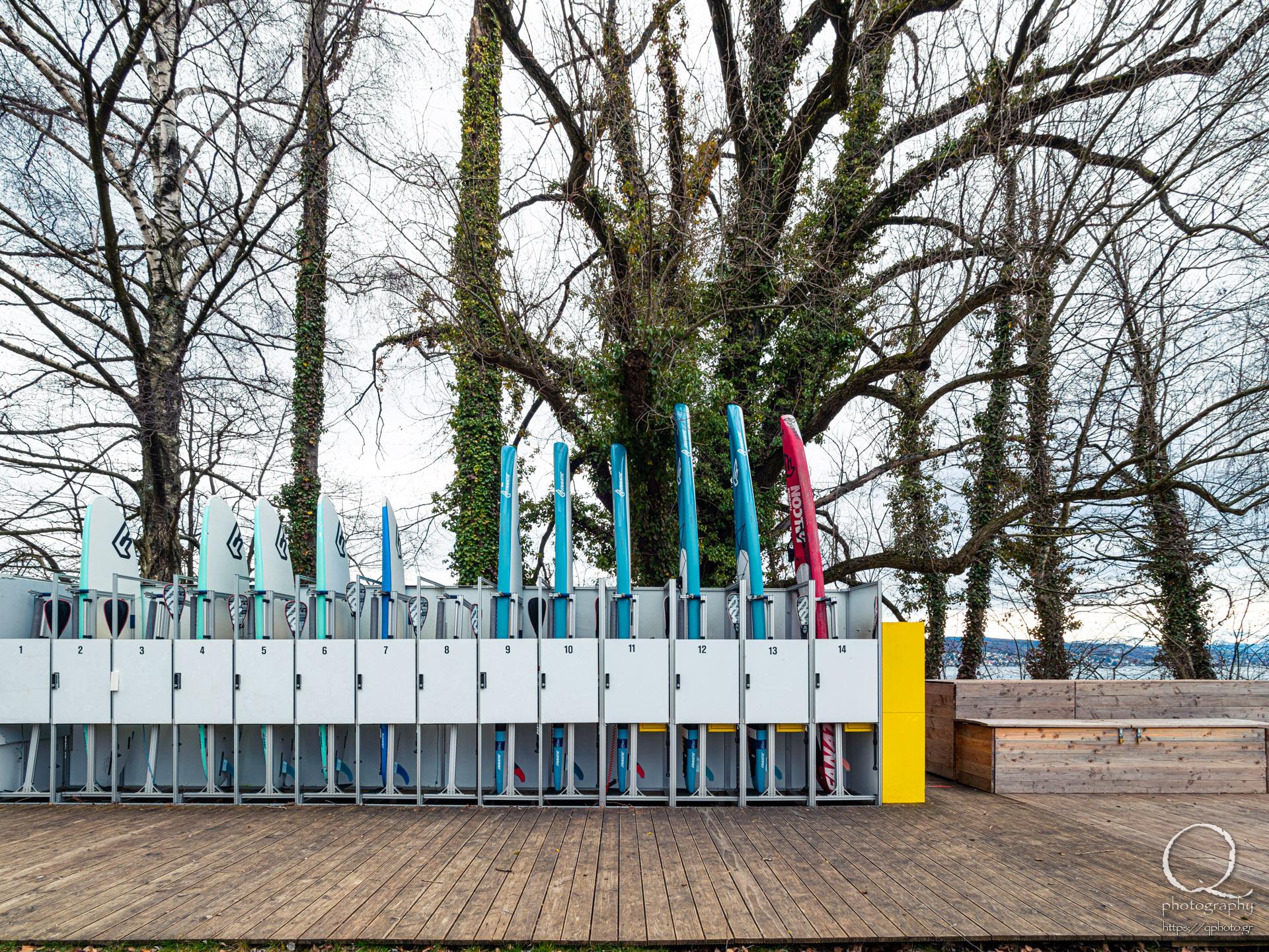 Surfboard lockers